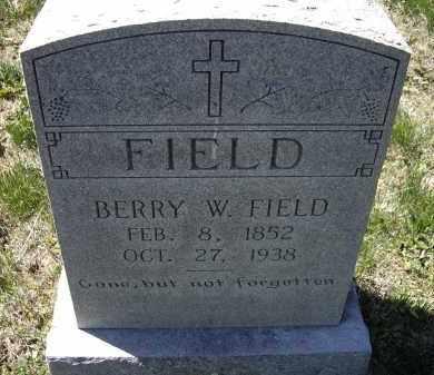 FIELD, BERRY WASHINGTON - Lawrence County, Arkansas | BERRY WASHINGTON FIELD - Arkansas Gravestone Photos