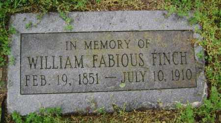 FINCH, WILLIAM FABIOUS - Lawrence County, Arkansas   WILLIAM FABIOUS FINCH - Arkansas Gravestone Photos