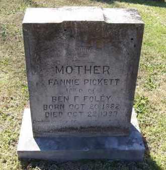 PICKETT FOLEY, FANNIE - Lawrence County, Arkansas | FANNIE PICKETT FOLEY - Arkansas Gravestone Photos