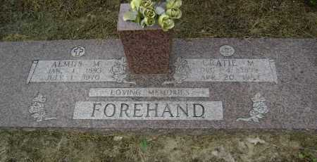 FOREHAND, ALMUS MELVIN - Lawrence County, Arkansas | ALMUS MELVIN FOREHAND - Arkansas Gravestone Photos