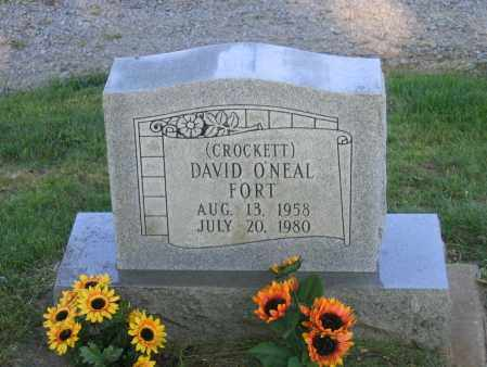 "FORT, DAVID O'NEAL ""CROCKETT"" - Lawrence County, Arkansas   DAVID O'NEAL ""CROCKETT"" FORT - Arkansas Gravestone Photos"