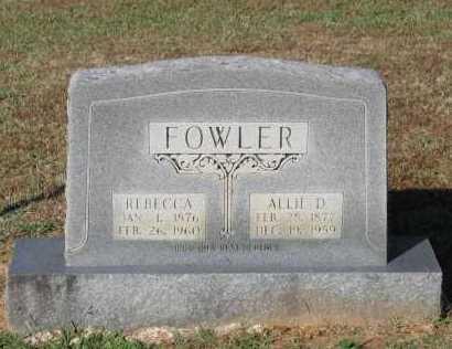 FOWLER, REBECCA - Lawrence County, Arkansas | REBECCA FOWLER - Arkansas Gravestone Photos
