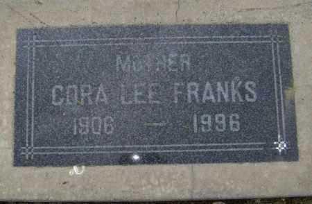 FRANKS, CORA LEE - Lawrence County, Arkansas   CORA LEE FRANKS - Arkansas Gravestone Photos