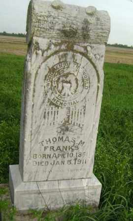 FRANKS, THOMAS M. - Lawrence County, Arkansas | THOMAS M. FRANKS - Arkansas Gravestone Photos