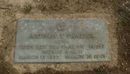 FRAZIER  (VETERAN WWII), ARTHUR T. - Lawrence County, Arkansas | ARTHUR T. FRAZIER  (VETERAN WWII) - Arkansas Gravestone Photos
