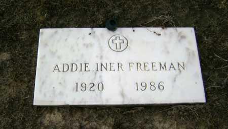 FREEMAN, ADDIE INER - Lawrence County, Arkansas | ADDIE INER FREEMAN - Arkansas Gravestone Photos