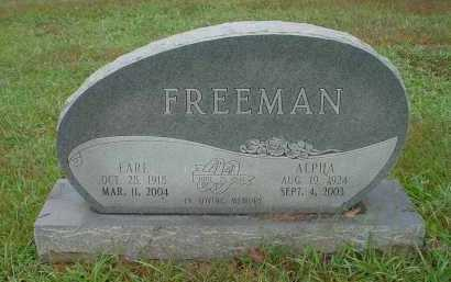 FREEMAN, EARL - Lawrence County, Arkansas | EARL FREEMAN - Arkansas Gravestone Photos