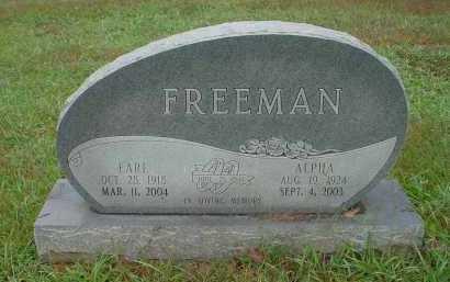 FREEMAN, ALPHA BERTHA - Lawrence County, Arkansas | ALPHA BERTHA FREEMAN - Arkansas Gravestone Photos