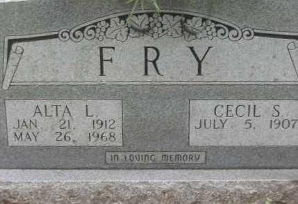 FRY, ALTA L. - Lawrence County, Arkansas   ALTA L. FRY - Arkansas Gravestone Photos