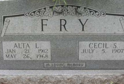 FRY, ALTA L. - Lawrence County, Arkansas | ALTA L. FRY - Arkansas Gravestone Photos