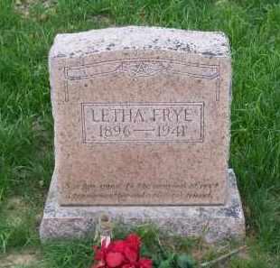 FRYE, LETHA - Lawrence County, Arkansas | LETHA FRYE - Arkansas Gravestone Photos