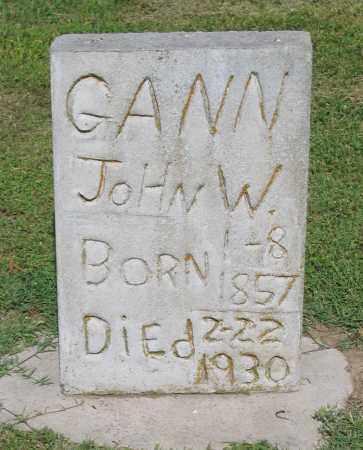 GANN, JOHN W. - Lawrence County, Arkansas | JOHN W. GANN - Arkansas Gravestone Photos
