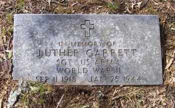 GARRETT (VETERAN WWII), LUTHER - Lawrence County, Arkansas | LUTHER GARRETT (VETERAN WWII) - Arkansas Gravestone Photos