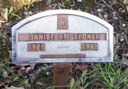 GELDNER, JANICE E. - Lawrence County, Arkansas | JANICE E. GELDNER - Arkansas Gravestone Photos