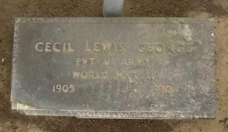 GEORGE  (VETERAN WWII), CECIL LEWIS - Lawrence County, Arkansas   CECIL LEWIS GEORGE  (VETERAN WWII) - Arkansas Gravestone Photos