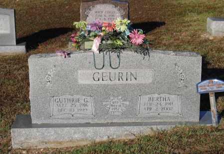 GEURIN, BERTHA - Lawrence County, Arkansas | BERTHA GEURIN - Arkansas Gravestone Photos