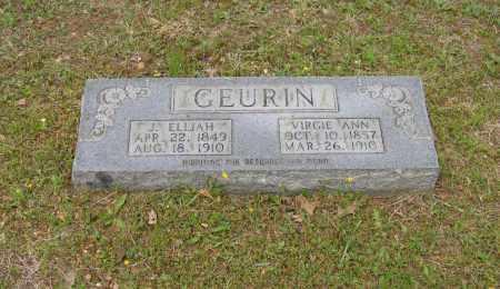 GEURIN, J. ELIJAH - Lawrence County, Arkansas | J. ELIJAH GEURIN - Arkansas Gravestone Photos