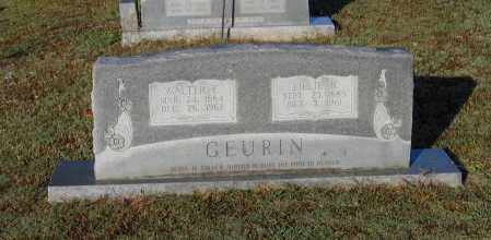 GEURIN, WALTER ERNEST - Lawrence County, Arkansas | WALTER ERNEST GEURIN - Arkansas Gravestone Photos