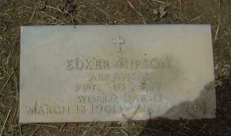 GIPSON  (VETERAN WWII), EDKER - Lawrence County, Arkansas | EDKER GIPSON  (VETERAN WWII) - Arkansas Gravestone Photos