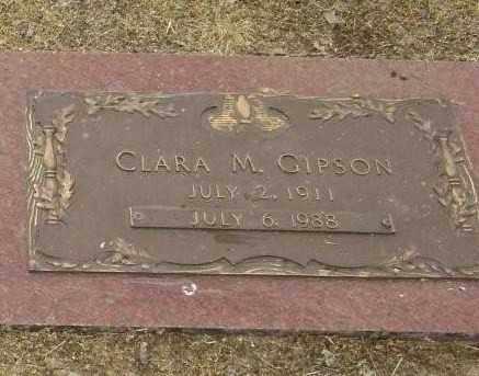 GIPSON, CLARA M. - Lawrence County, Arkansas | CLARA M. GIPSON - Arkansas Gravestone Photos