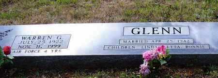 GLENN (VETERAN WWII), WARREN G. - Lawrence County, Arkansas | WARREN G. GLENN (VETERAN WWII) - Arkansas Gravestone Photos