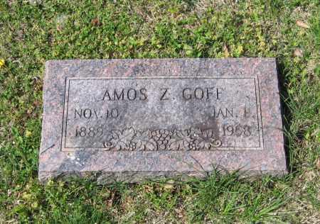 GOFF, AMOS ZACHARIAH - Lawrence County, Arkansas | AMOS ZACHARIAH GOFF - Arkansas Gravestone Photos