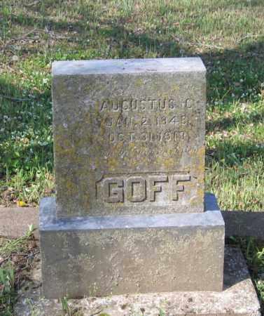 GOFF, AUGUSTUS C. - Lawrence County, Arkansas | AUGUSTUS C. GOFF - Arkansas Gravestone Photos