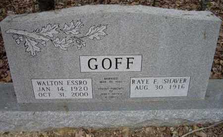 GOFF, WALTON ESSRO - Lawrence County, Arkansas | WALTON ESSRO GOFF - Arkansas Gravestone Photos