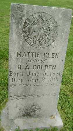GOLDEN, MATTIE - Lawrence County, Arkansas | MATTIE GOLDEN - Arkansas Gravestone Photos