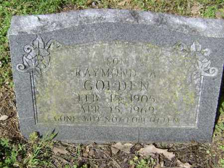 GOLDEN, RAYMOND A. - Lawrence County, Arkansas | RAYMOND A. GOLDEN - Arkansas Gravestone Photos