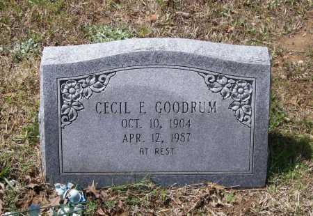 GOODRUM, SR., CECIL FRANKLIN - Lawrence County, Arkansas   CECIL FRANKLIN GOODRUM, SR. - Arkansas Gravestone Photos