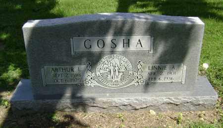 GOSHA, LINNIE A. - Lawrence County, Arkansas | LINNIE A. GOSHA - Arkansas Gravestone Photos