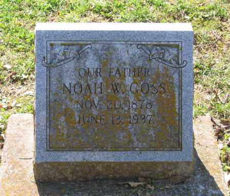 GOSS, NOAH W. - Lawrence County, Arkansas | NOAH W. GOSS - Arkansas Gravestone Photos