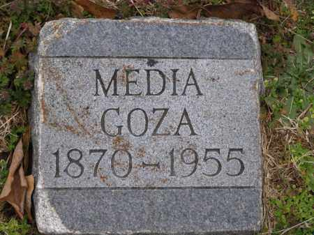 "GOZA, ALMEDIA LOUISE ""MEDIA"" - Lawrence County, Arkansas | ALMEDIA LOUISE ""MEDIA"" GOZA - Arkansas Gravestone Photos"