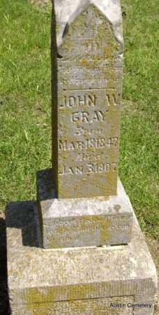GRAY, JOHN W. - Lawrence County, Arkansas | JOHN W. GRAY - Arkansas Gravestone Photos