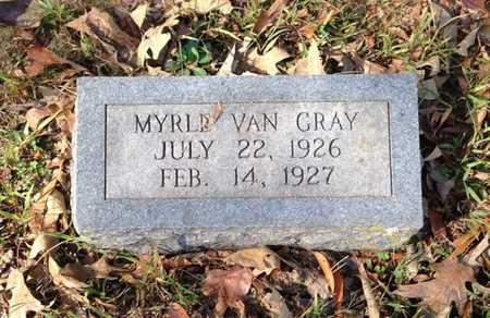 GRAY, MYRLE VAN - Lawrence County, Arkansas | MYRLE VAN GRAY - Arkansas Gravestone Photos