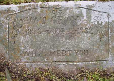 GRAY, W. I. - Lawrence County, Arkansas | W. I. GRAY - Arkansas Gravestone Photos