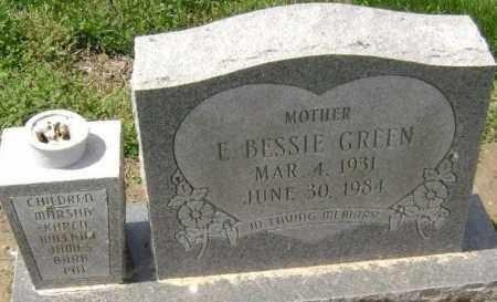 GREEN, E. BESSIE - Lawrence County, Arkansas   E. BESSIE GREEN - Arkansas Gravestone Photos