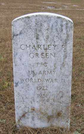 GREEN (VETERAN WWII), CHARLEY FREEMAN - Lawrence County, Arkansas | CHARLEY FREEMAN GREEN (VETERAN WWII) - Arkansas Gravestone Photos