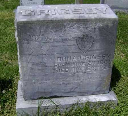 GRIGSBY, DONA - Lawrence County, Arkansas | DONA GRIGSBY - Arkansas Gravestone Photos