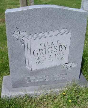 GRIGSBY, ELLA E. - Lawrence County, Arkansas | ELLA E. GRIGSBY - Arkansas Gravestone Photos