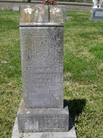 GRIGSBY, FRANCES E. - Lawrence County, Arkansas   FRANCES E. GRIGSBY - Arkansas Gravestone Photos