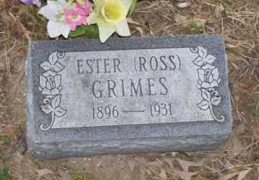 GRIMES, ESTER - Lawrence County, Arkansas | ESTER GRIMES - Arkansas Gravestone Photos
