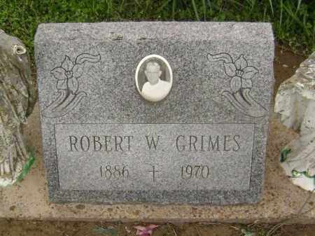 GRIMES, ROBERT W. - Lawrence County, Arkansas   ROBERT W. GRIMES - Arkansas Gravestone Photos
