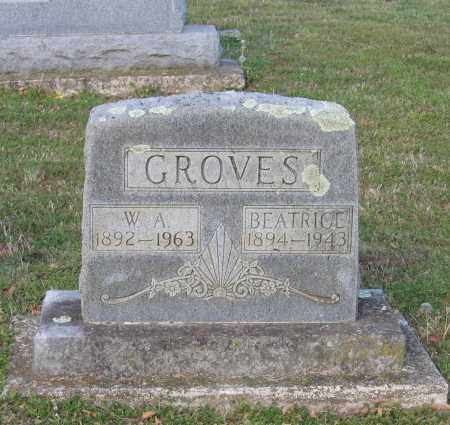 "GROVES, WILLIAM ALBERT ""W. A."" - Lawrence County, Arkansas 