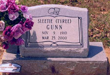 TYREE GUNN, SLEETIE ALMETA - Lawrence County, Arkansas   SLEETIE ALMETA TYREE GUNN - Arkansas Gravestone Photos