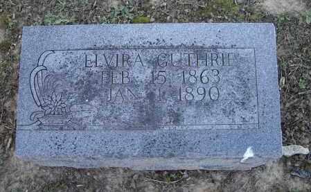 GUTHRIE, ELVIRA - Lawrence County, Arkansas | ELVIRA GUTHRIE - Arkansas Gravestone Photos