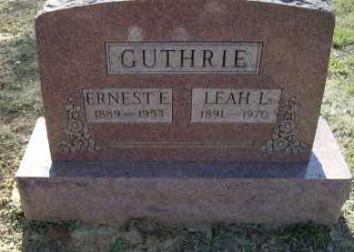 GUTHRIE, LEAH LEVENIA - Lawrence County, Arkansas | LEAH LEVENIA GUTHRIE - Arkansas Gravestone Photos