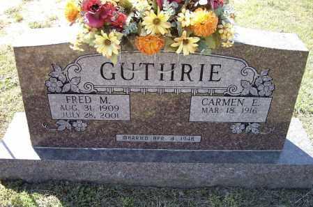 GUTHRIE, FRED M. - Lawrence County, Arkansas   FRED M. GUTHRIE - Arkansas Gravestone Photos