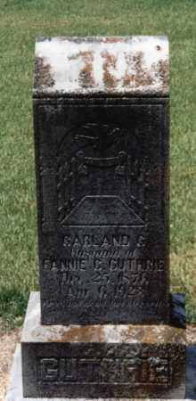 GUTHRIE, GARLAND G. - Lawrence County, Arkansas | GARLAND G. GUTHRIE - Arkansas Gravestone Photos